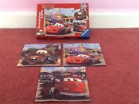 Disney Cars 3x jigsaw puzzles in original box