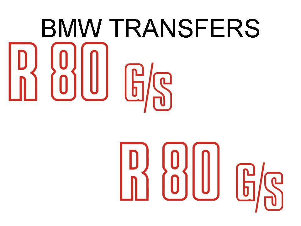 BMW Motorcycle R80GS Side Panel Transfers and Decals Sold as a Pair