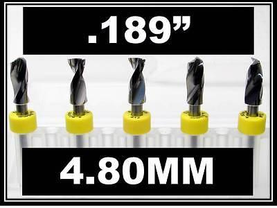 "1//8/"" Shank  Carbide Drill Bits FIVE Pcs CNC Dremel Model Hobby .147/"" 3.70mm"