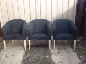 Three club chairs Mount Pleasant Ballarat City Preview