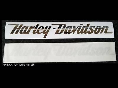 2 x 250mm  ** CHROME **  SILVER   HARLEY DAVIDSON style Tank decal sticker
