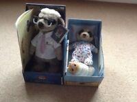 Meerkats: Yakov and Baby Oleg. Boxed and certificates. £20