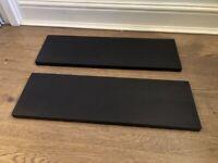 Black Floating Shelves (set of 2)- new, pick up SW1P