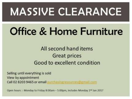 Clearance Sale - Home and Office Furniture