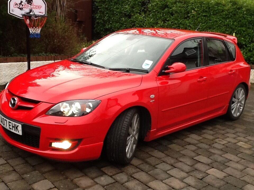 mazda 3 mps sports aero kit 256bhp top speed 155mph true red not