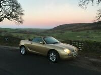Sienna Gold MG, MGF Mk2 Convertible, 2000, Manual, 1796cc - inc. Matching Gold Hardtop with Stand