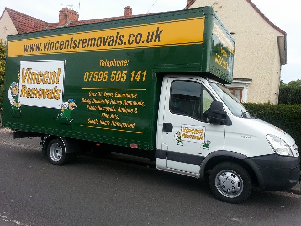 vincents removals of bristol and man with a van removing. Black Bedroom Furniture Sets. Home Design Ideas
