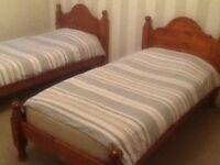 HARDWOOD SINGLE BED FRAMES