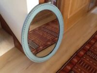 Vintage Wooden Oval Mirror
