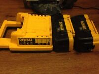 Power tool Dewalt,2,36 Volt Batteries with Charger & a Broken Skill Saw all Second Hand.