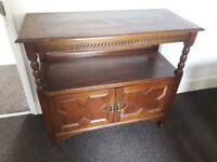 Lovely old charm oak sideboard, ideal for restoration or painting. 107cm wide, 45cm deep Redcar Ings