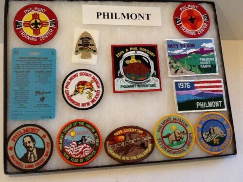 """GROUP / LOT 13 items - """" PHILMONT """"- Boy Scout BSA  G&W/9-3"""