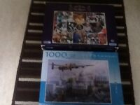 Two jigsaws 1000 pieces one of our queen and one in rememberance