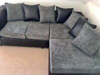 BRAND NEW BLACK AND GREY CORNER OR 3+2 SEATER SOFA SET AVAILABLE IN STOCK