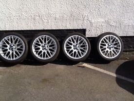 Genuine Bbs alloy wheels to clear fits all audi come with brand new tyres