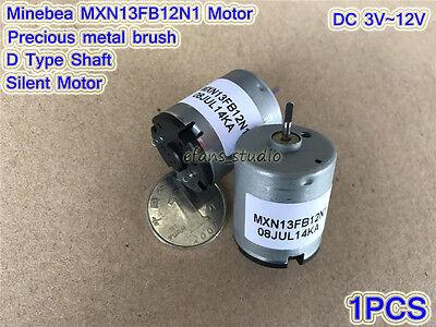 Dc3v12v 6100rpm Minebea 25mm Mini Mute Motor D Shaft Precious Metal Brush Motor