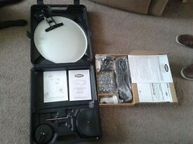 New Ross portable satellite dish & HD receiver
