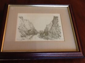 Lovely old print of The Wyche Cutting Malvern
