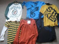 Six long sleeved boys tops all - hardly worn, some not at all. Age 10 to 12 years