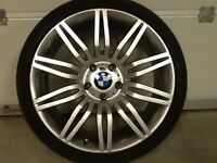 19INCH 5/120 BMW SPIDER REPLICA ALLOY WHEELS WITH WIDER REAR RIMS AND TYRES,FRONTS8.5/19REARS 9.5/19