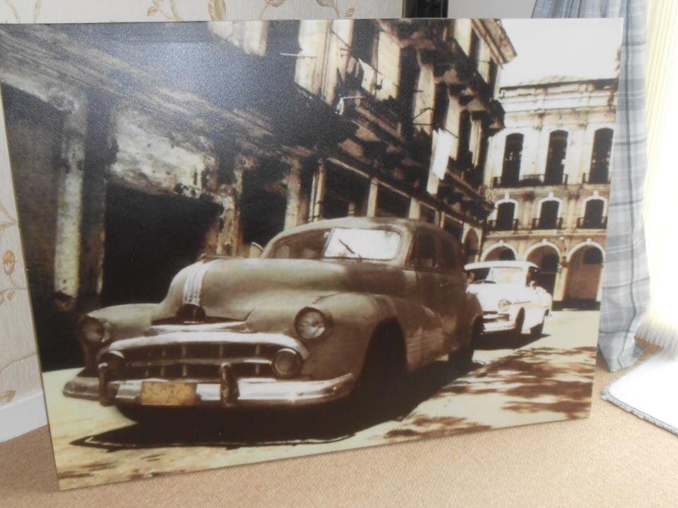 """Extra large Cuba Havana Canvas 44.5""""x 34.5"""""""