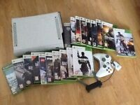 Xbox 360 white console package inc 19 games