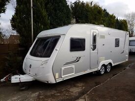 Swift Conqueror 630 4 berth caravan 2009 Twin Axle FIXED BED, MOTOR MOVER !!