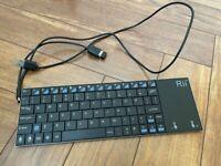 Keyboard Portable Mini Wireless Slim Rii K12 2.4GHz