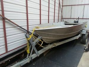 16 Foot Gregor Aluminum Boat With Motor And Trailer