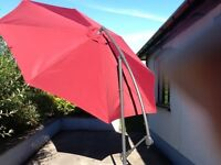 Wine coloured parasol