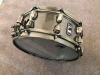 """Mapex Black Panther 'Brass Cat' 14x5.5"""" Snare Drum & Protection Racket Case"""