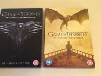 Game of Thrones Series 4 and 5 watched once, as new. Tenco complete series 12 discs..