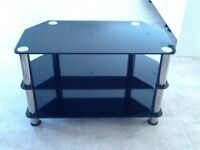 Black and chrome TV Stand/ Collect only