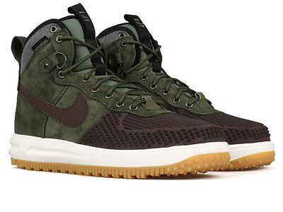 Nike Lunar Air Force 1 Duckboot SZ 8 Baroque Brown Olive Green High 805899-200