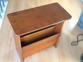 Yew Reproduction Magazine Table