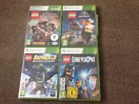 Xbox360 Lego and assorted games