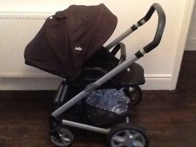 Joie pushchair and carry cot travel system