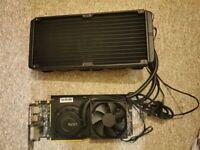 GTX 1080ti Graphics card with Kraken G12 and AIO liquid cooler