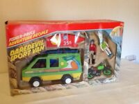 Fisher Price Daredevil Sports Van with figures.