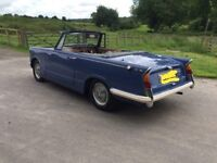 Triumph Herald Convertible 1961 one previous owner from new px swap classic ford why van car bike