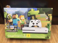 XBOX ONE S MINE CRAFT EDITION BRAND NEW SEALED