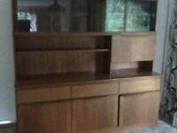 Dining room unit and large four seater sofa