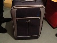 """Grey and black strong lightweight suitcase 24"""""""