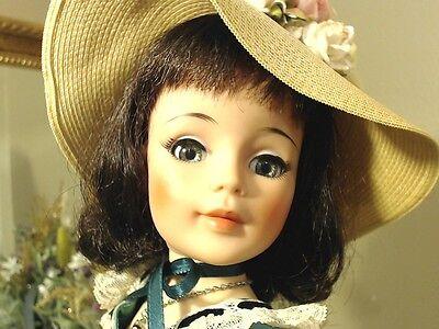 "SCARLETT CISSY SIZE Madame Alexander 21"" 1965 JACQUELINE RARE GREEN SATIN GOWN!"