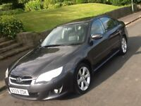 2009 SUBARU LEGACY REN 2.0 SALOON WITH FULL LEATHER AND SAT NAV AND FULL HISTORY