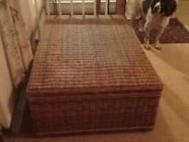 Rattan coffee table/box lift up lid with storage underneath