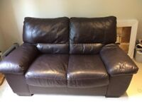 FREE - Double sofa, genuine brown leather