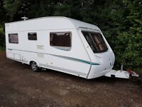 Abbey GTS Vogue 415 4 berth caravan 2007 ,FIXED BED, Awning, Bargain !!