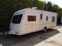 Bailey Senator Indiana 4 berth caravan 2008 ,FIXED BED, MOTOR MOVER, Bargain !!