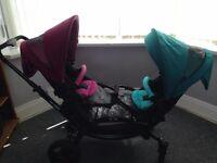 O baby double pram